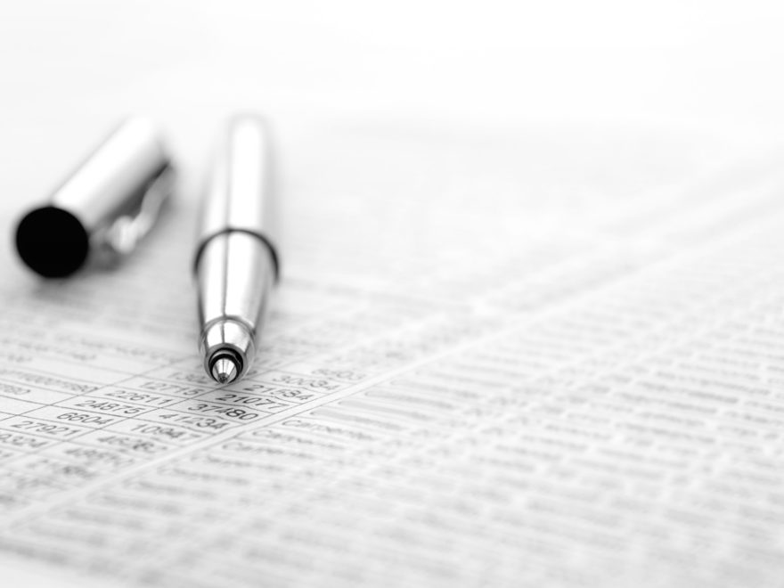 pen and document